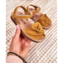FRROCK Dziecięce Sandałki Na Rzep Żółte Goofy 2