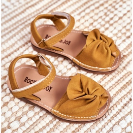 FRROCK Dziecięce Sandałki Na Rzep Żółte Goofy 1