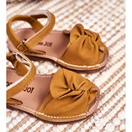 FRROCK Dziecięce Sandałki Na Rzep Żółte Goofy 3
