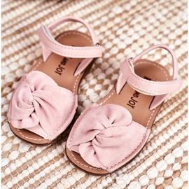 FRROCK Dziecięce Sandałki Na Rzep Różowe Goofy 1