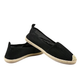 Czarne tenisówki z koronki JX55P 2