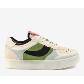 Zielone obuwie sportowe sneakersy LA51P wielokolorowe 2