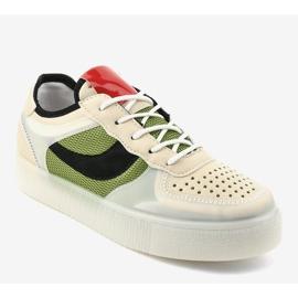 Zielone obuwie sportowe sneakersy LA51P wielokolorowe 1