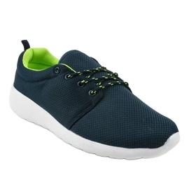 Granatowe męskie obuwie sportowe YFM-71B 1