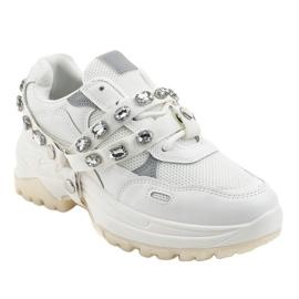 Białe modne obuwie sportowe A88-68 1