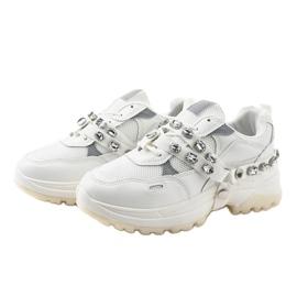 Białe modne obuwie sportowe A88-68 3