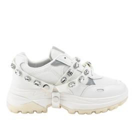Białe modne obuwie sportowe A88-68 2