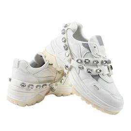 Białe modne obuwie sportowe A88-68 4