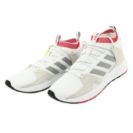 Buty adidas Questarstrike Mid M G25775 białe czerwone szare 2