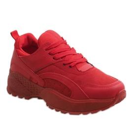 Czerwone modne obuwie sportowe A88-18 1