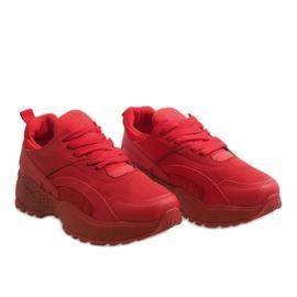 Czerwone modne obuwie sportowe A88-18 2