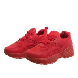 Czerwone modne obuwie sportowe A88-18 3