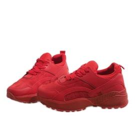 Czerwone modne obuwie sportowe A88-18 4