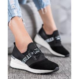 Skórzane Sneakersy Look VINCEZA czarne 5