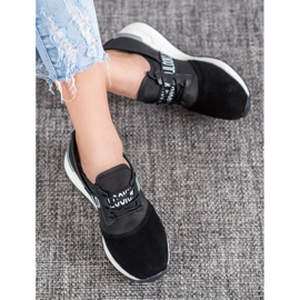 Skórzane Sneakersy Look VINCEZA czarne 1