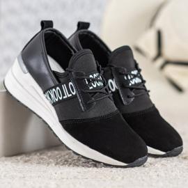 Skórzane Sneakersy Look VINCEZA czarne 2