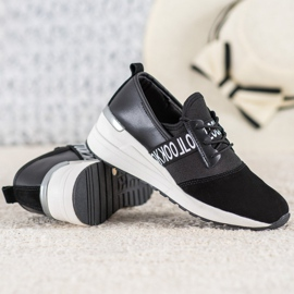 Skórzane Sneakersy Look VINCEZA czarne 3