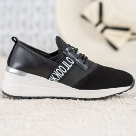 Skórzane Sneakersy Look VINCEZA czarne 4