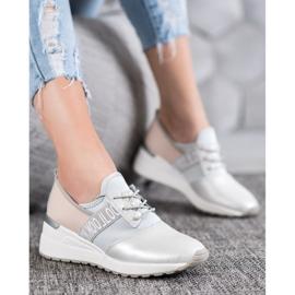 Skórzane Sneakersy Look VINCEZA szare 1