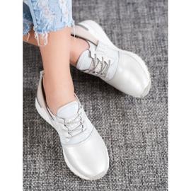 Skórzane Sneakersy Look VINCEZA szare 2