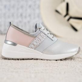 Skórzane Sneakersy Look VINCEZA szare 3