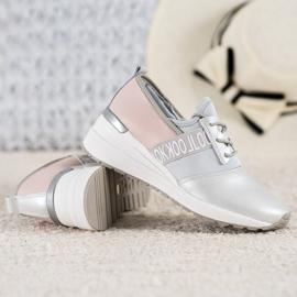 Skórzane Sneakersy Look VINCEZA szare 4