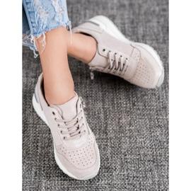 Skórzane Sneakersy Z Suwakiem VINCEZA brązowe 1