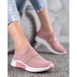 SHELOVET Wsuwane Buty Sportowe różowe 1