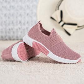 SHELOVET Wsuwane Buty Sportowe różowe 4