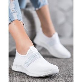 SHELOVET Wsuwane Buty Sportowe białe 4