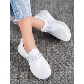 SHELOVET Wsuwane Buty Sportowe białe 1