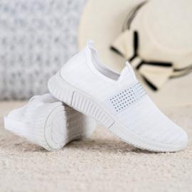 SHELOVET Wsuwane Buty Sportowe białe 2