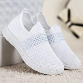 SHELOVET Wsuwane Buty Sportowe białe 3
