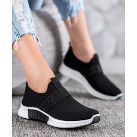 SHELOVET Wsuwane Buty Sportowe czarne 4