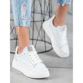 SHELOVET Trampki Na Platformie Fashion białe 2