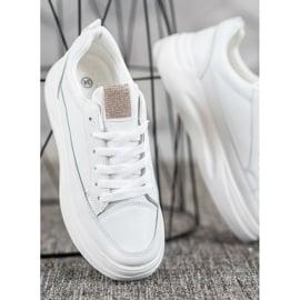 SHELOVET Trampki Na Platformie Fashion białe 3