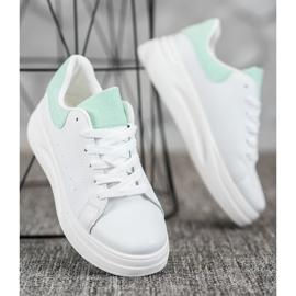 SHELOVET Buty Sportowe Na Platformie białe 5