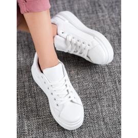 Renda Białe Sneakersy Na Platformie 5