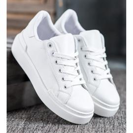 Renda Białe Sneakersy Na Platformie 1