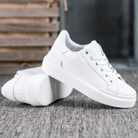 Renda Białe Sneakersy Na Platformie 2
