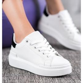 Renda Białe Sneakersy Na Platformie 4