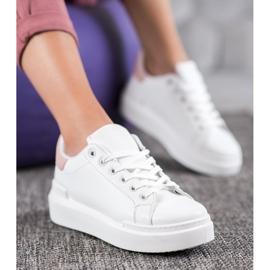 Renda Białe Sneakersy Na Platformie 3