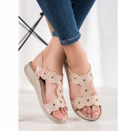 SHELOVET Eleganckie Sandały Na Platformie beżowy 1