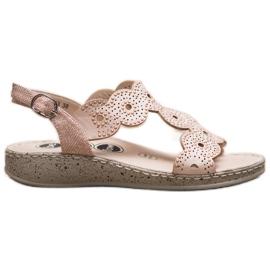 SHELOVET Eleganckie Sandały Na Platformie beżowy 2