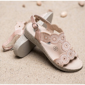 SHELOVET Eleganckie Sandały Na Platformie beżowy 3