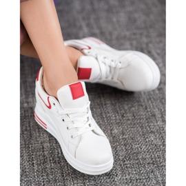Lovery Sneakersy Na Koturnie białe 1
