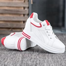 Lovery Sneakersy Na Koturnie białe 3