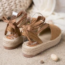 Seastar Wiązane Sandały Espadryle brązowe 1