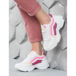 Marquiz Sneakersy Z Neonowymi Wstawkami białe wielokolorowe 5
