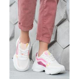 Marquiz Sneakersy Z Neonowymi Wstawkami białe wielokolorowe 1
